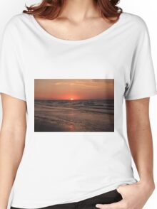 Normandy Beach At Sunset Women's Relaxed Fit T-Shirt
