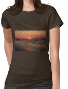 Normandy Beach At Sunset Womens Fitted T-Shirt