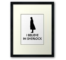 I Believe in Sherlock - Red Framed Print
