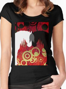 Imperial Yin & Yang Horses Women's Fitted Scoop T-Shirt