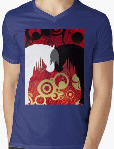 Imperial Yin & Yang Horses Mens V-Neck T-Shirt
