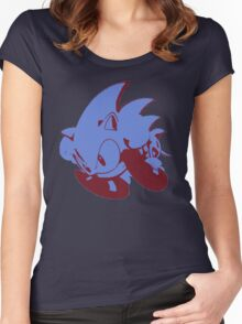 Minimalist Sonic 2 Women's Fitted Scoop T-Shirt