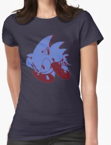 Minimalist Sonic 2 Womens Fitted T-Shirt