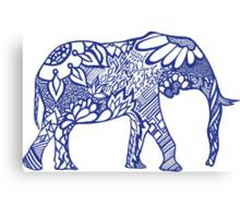 Elephant_bluess Canvas Print