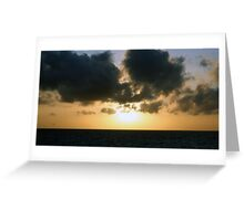 The setting sun Greeting Card