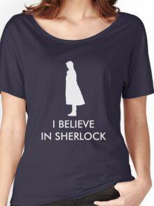I Believe in Sherlock - Navy Women's Relaxed Fit T-Shirt