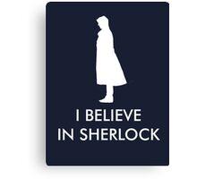 I Believe in Sherlock - Navy Canvas Print