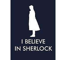 I Believe in Sherlock - Navy Photographic Print