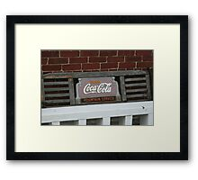 Old fashion bench advertising  Framed Print