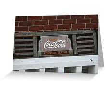 Old fashion bench advertising  Greeting Card