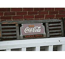Old fashion bench advertising  Photographic Print