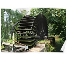 Old Waterwheel Poster