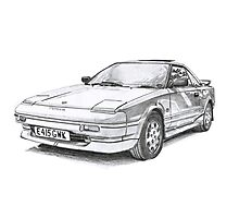 Toyota MR2 Photographic Print