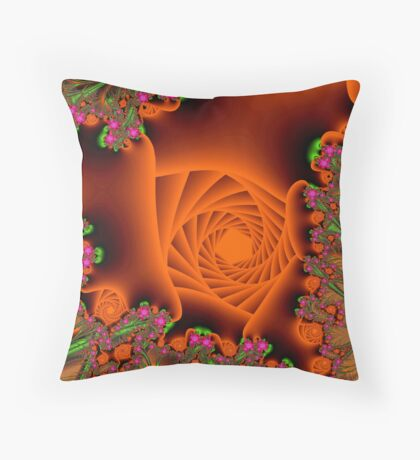 Blooming in a cave Throw Pillow