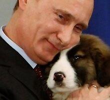 Putin with Dog Iphone Case by Dhruv Shankar