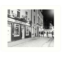 Outside A Pub At Night In Galway Ireland Art Print