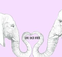 Elephant Love - Cute Text by jelemeno