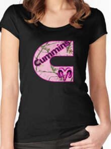 Cummins Dodge Pink Camouflage Women's Fitted Scoop T-Shirt