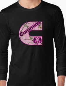 Cummins Dodge Pink Camouflage Long Sleeve T-Shirt