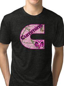 Cummins Dodge Pink Camouflage Tri-blend T-Shirt
