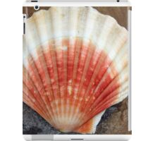 Red And White Seashell iPad Case/Skin
