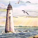 Minot Lighthouse off Boston Harbor by KellyGirl