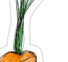 Tarrot the Carrot (colour) Sticker