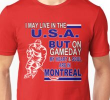Heart & Soul in Montreal (red) Unisex T-Shirt