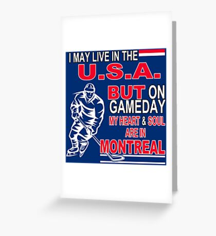 Heart & Soul in Montreal (blue) Greeting Card
