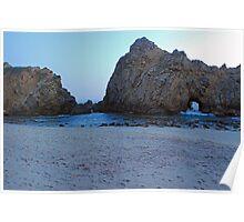 beach, tide, rock, sky Poster