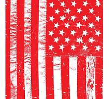 Distressed USA Flag - United States Of America by LamericaTees