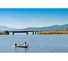 Fishing Boat on Lake Pend Orielle, Idaho Photographic Print