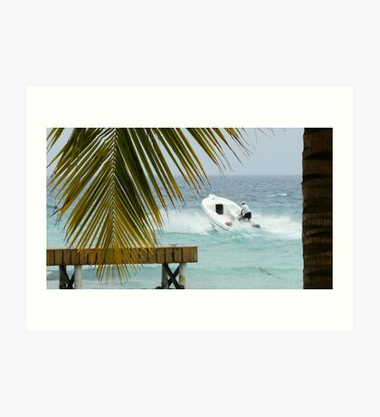 dominican speed boat Art Print