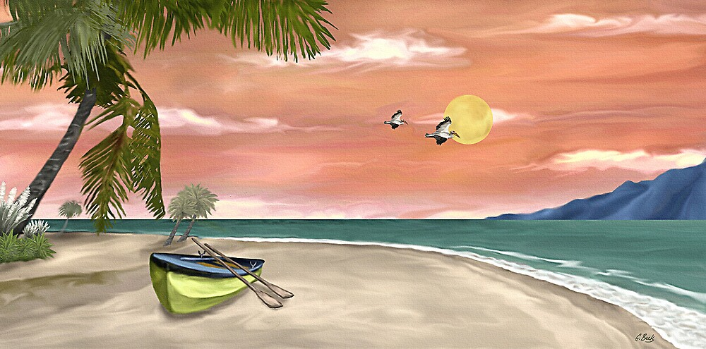 Island Boat by Gordon Beck