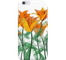 Vibrant Orange Tulips iPhone Case/Skin