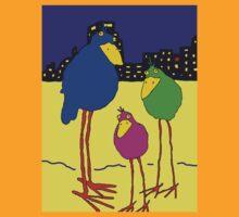birds near the city by Hetty