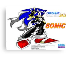 Freedom Fighter 2K3 Sonic Canvas Print