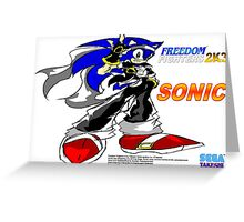Freedom Fighter 2K3 Sonic Greeting Card