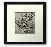 Snake Child (alternate colour) Framed Print