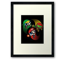 Super Puff Bros 1 Framed Print