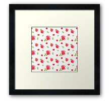 red watercolor roses Framed Print