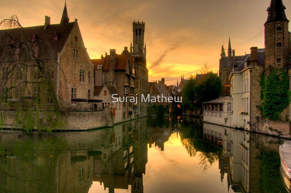 Brugge-Canal Rozenhoedkaai by Suraj Mathew