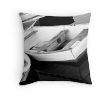 TETHERED BOATS Throw Pillow