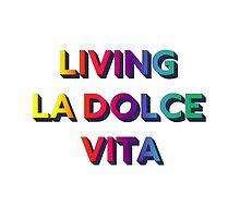 Living La Dolce Vita - White bg by Juliana Oliveira