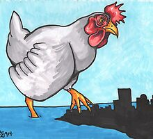 The Chicken Who Stomped the City by Kat Anderson