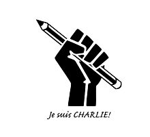"""Je suis CHARLIE!""....French solidarity! Photographic Print"