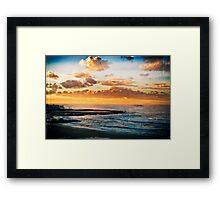 Newcastle Beach and Baths Framed Print