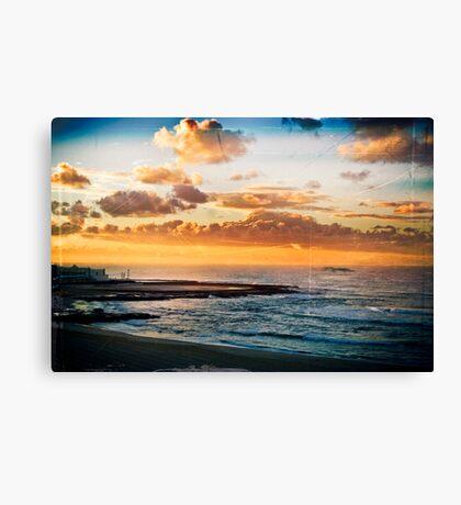 Newcastle Beach and Baths Canvas Print