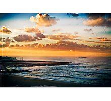 Newcastle Beach and Baths Photographic Print