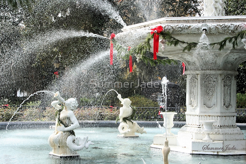 The Fountain in Forsyth Park, Savannah by SummerJade